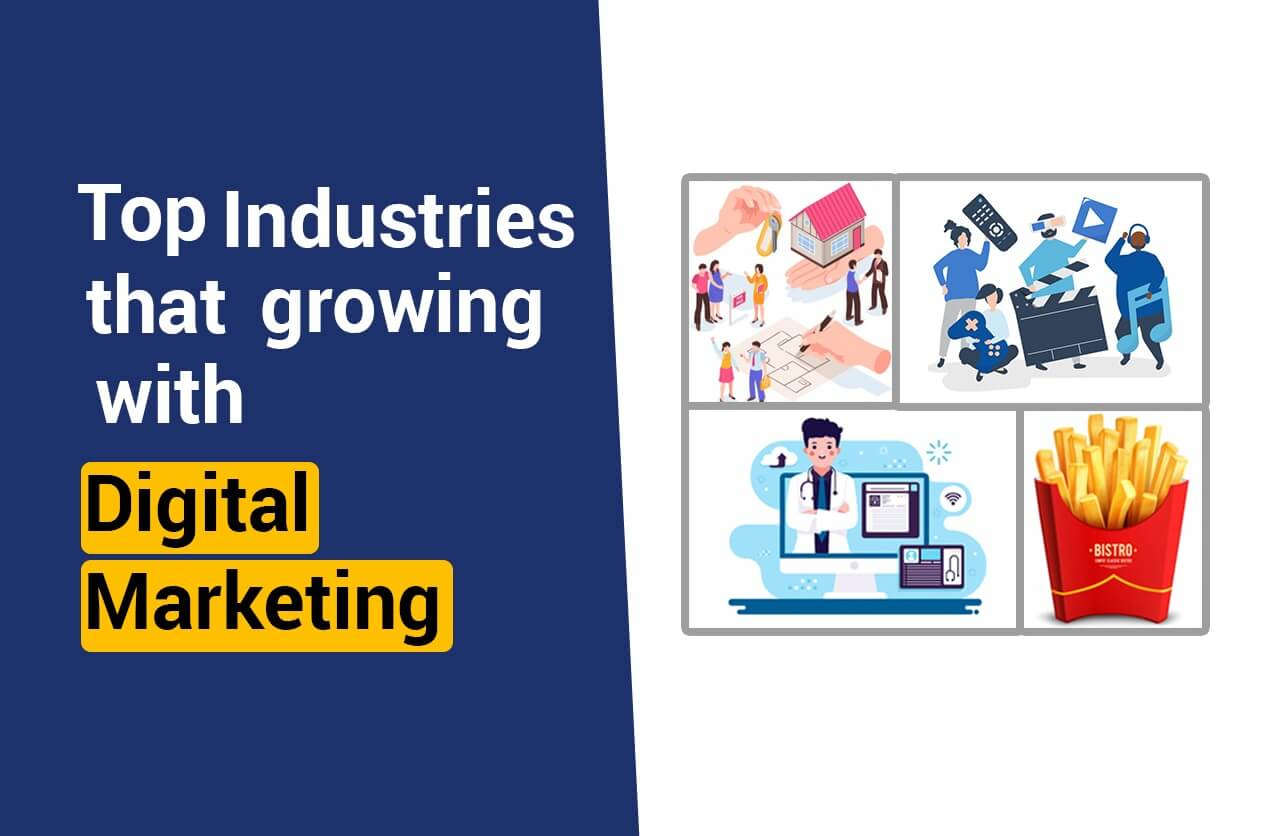 Top industry growing with Digital Marketing